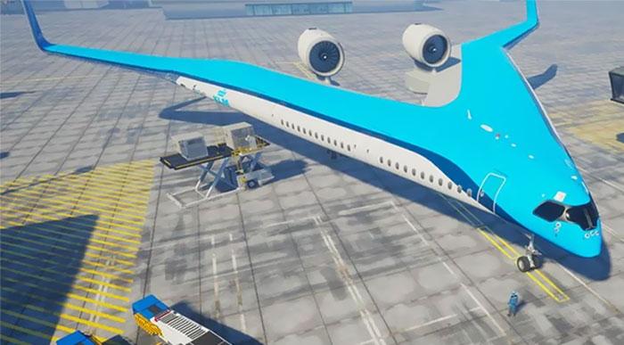 Un estudiante ha diseñado este avión que usaría un 20% menos de combustible, y KLM ya lo está construyendo
