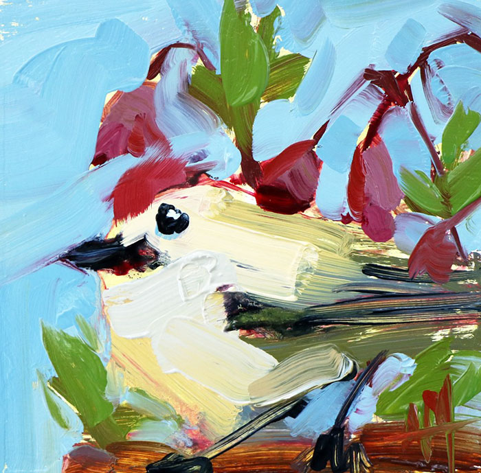 Bird Oil Painting