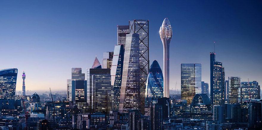 تصميم لبرج فريد بلندن يشبه زهرة التوليب