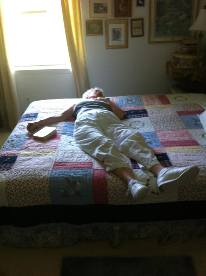 My Grandma Taking A Nap. Scared The Hell Out Of Me At First