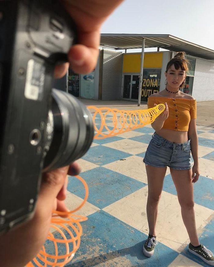 Фотограф использует супер приемы