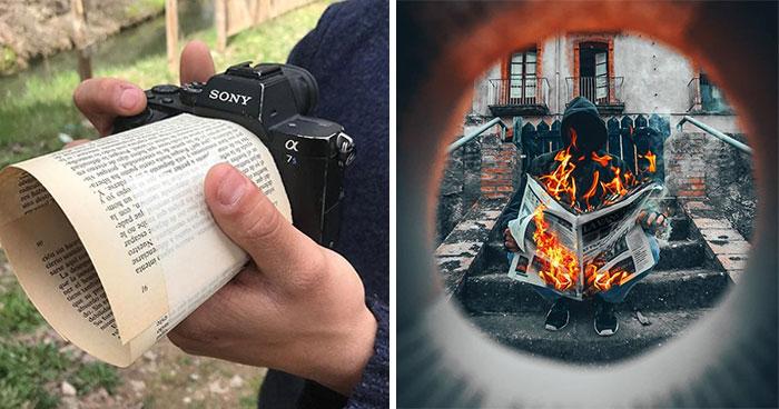 Este fotógrafo usa trucos muy creativos para crear increíbles fotos (12 imágenes)