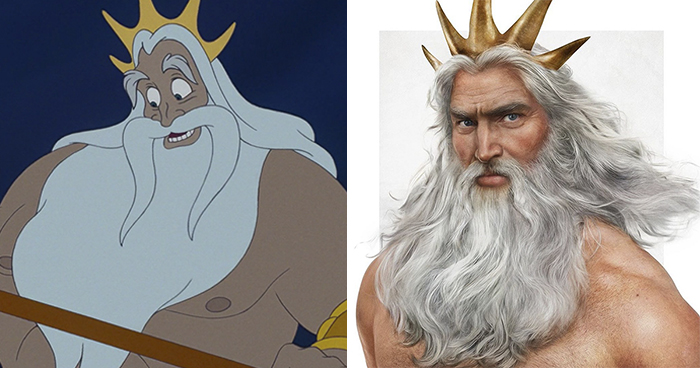Artist Turns Disney Characters Into Realistic People (Dad Edition)