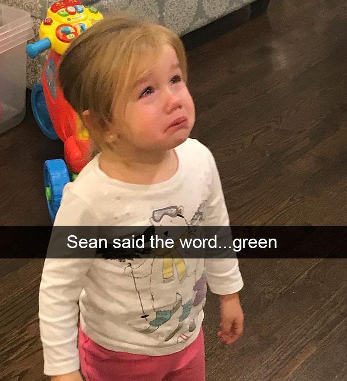Sean Said The Word...green