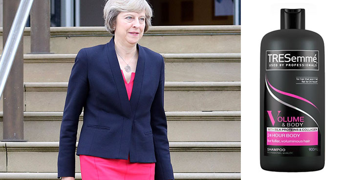 Theresa May Dresses A Lot Like Tresemmé Bottles And The 9 Comparisons Are Hilarious