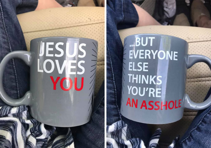 My Husbands New Coffee Cup!