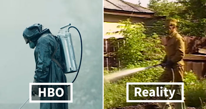 Side By Side Comparisons Of The Real Chernobyl Vs. The HBO Version Of It (20 pics)