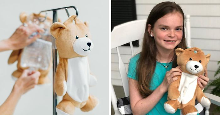 12-Year-Old Girl With Rare Disorder Creates Teddy Bears That Hide IV Bags For Other Young Patients