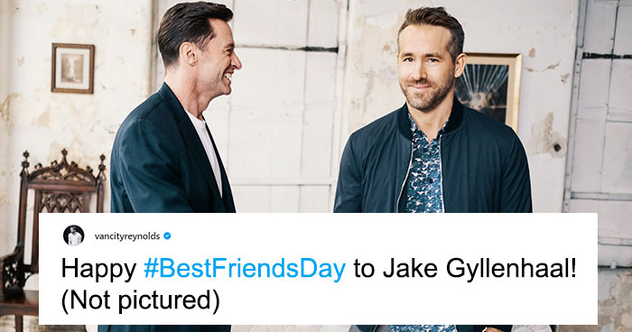 Ryan Reynolds And Jake Gyllenhaal Just Hilariously Trolled Hugh Jackman With 'Best Friends' Posts