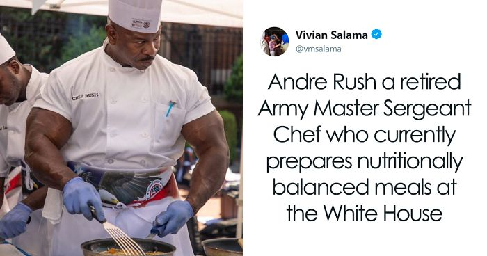 White House Chef That Looks Like A Bodybuilder Goes Viral, And People Even Start A Photoshop Battle