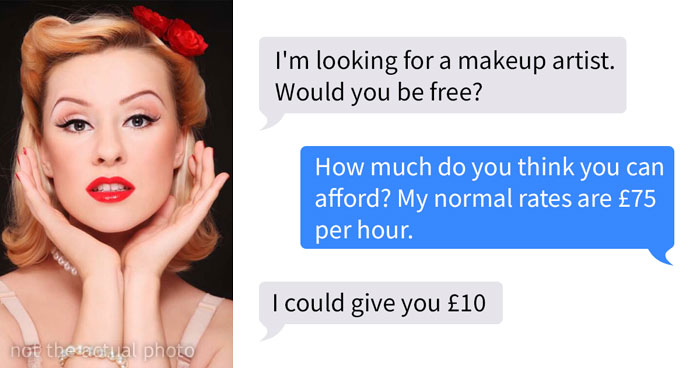 Makeup Artist Shares Screenshots From Entitled Bride That Wanted To Get Makeup And Hair For Exposure