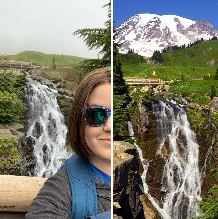 I Drove 21 Hours To Mount Rainier, And It Was Cloaked In Fog For Days