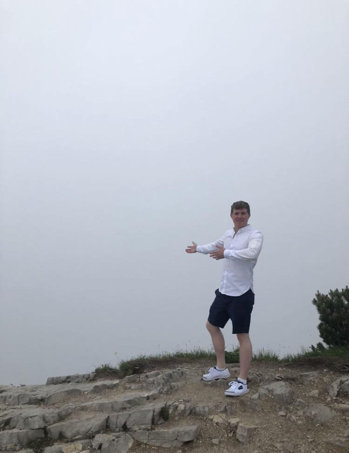 Viaje de 6 horas en autobús para que estas sean las vistas desde el Nido de Águilas de Hitler (Bavaria, Alemania)