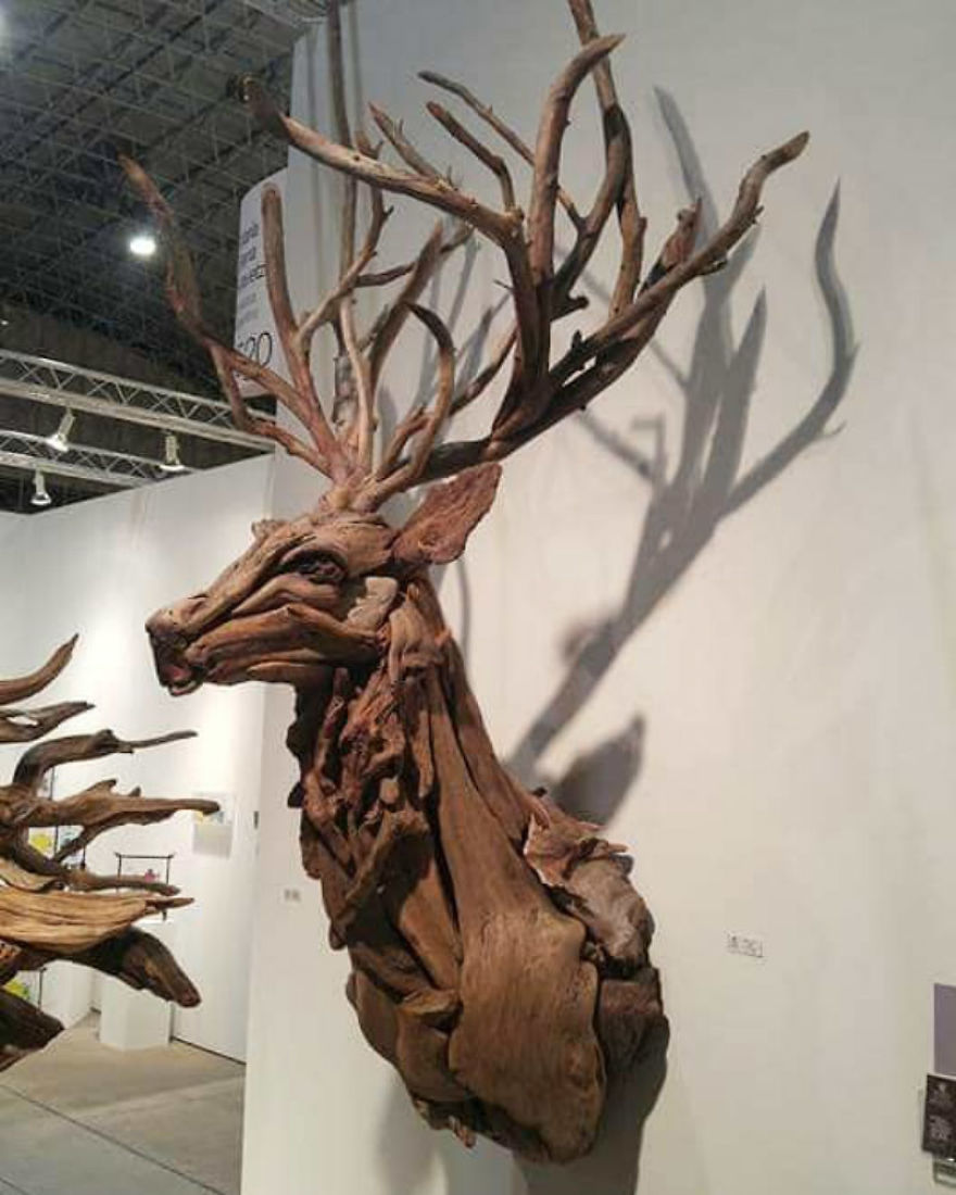 American Artist Creates Art With Reused Wood And The Result Looks Magical