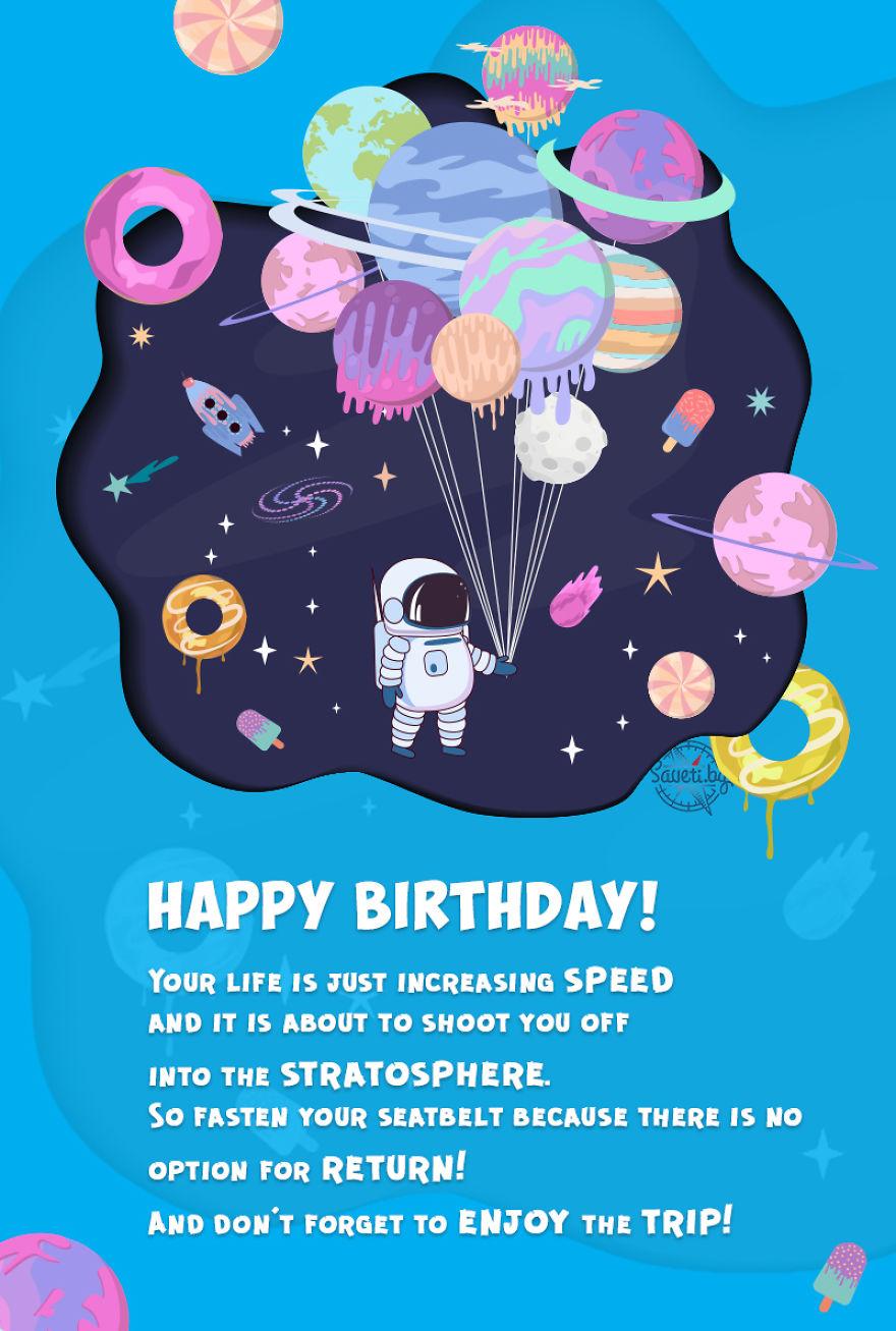 Birthday Card Cosmos