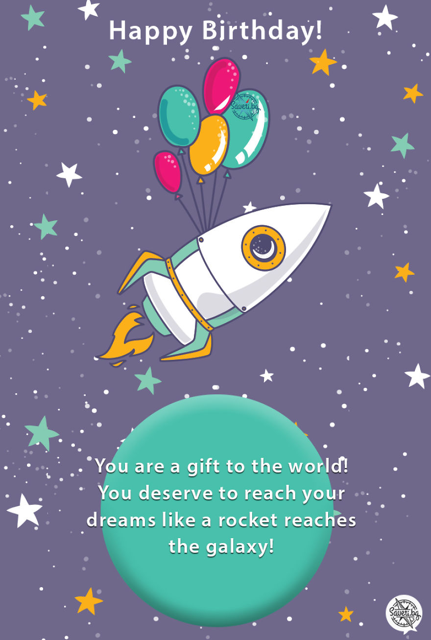 Birthday Card Rocket