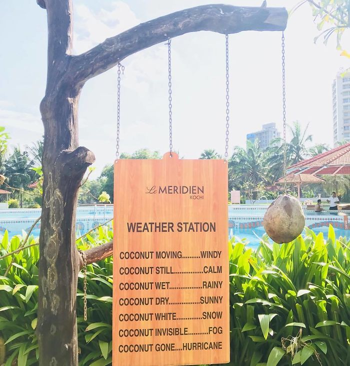 Weather Station At A Hotel