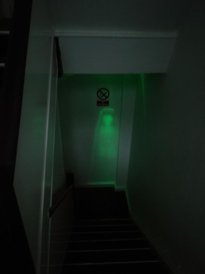 Emergency Light In The Hallway Scared The Hell Out Of Me Earlier. Meet The New Source Of My Nightmares