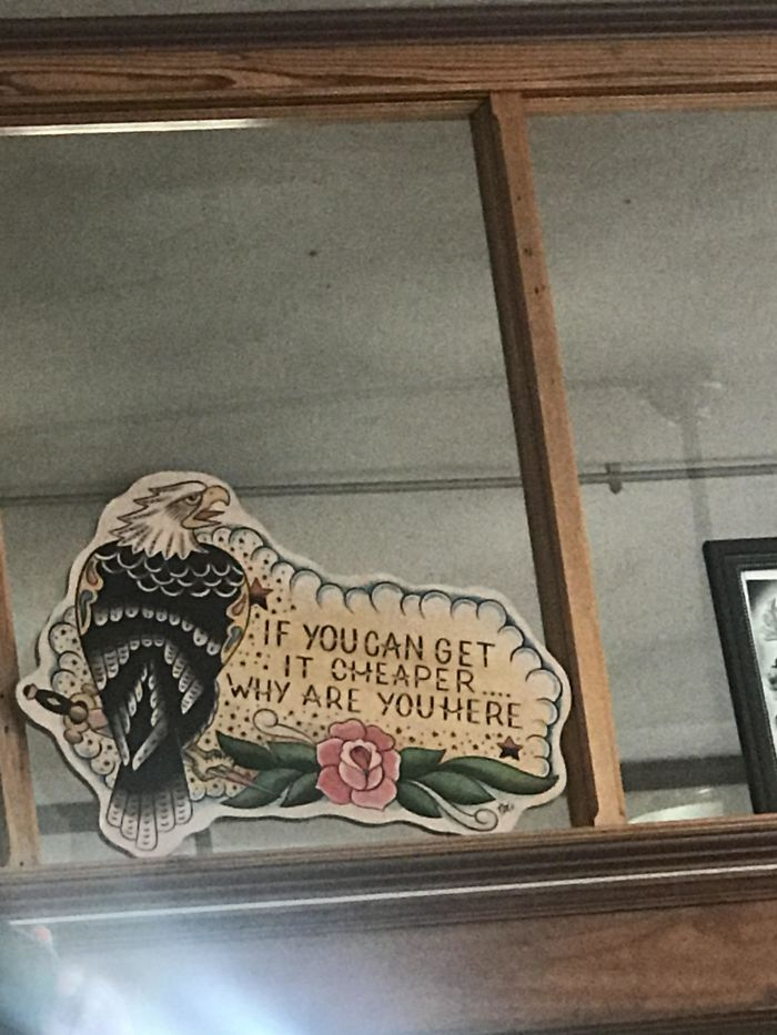 Sign At My Local Tattoo Shop