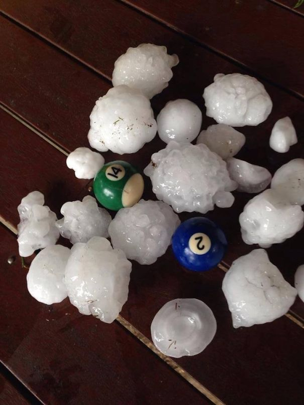 Australia. Where Even The Hail Can Kill You
