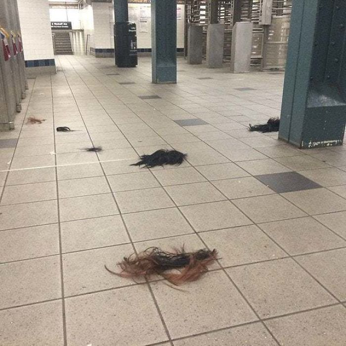 There Was A Fight At My Subway Stop, This Was The Aftermath
