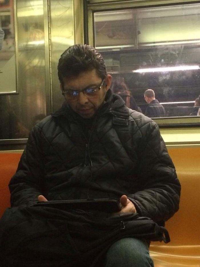 Indian Jeff Goldblum Riding The Subway