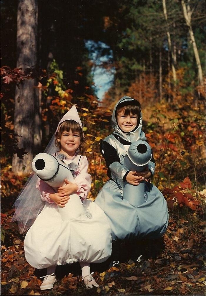This Is A Picture Of My Sister And I As A Princess And Knight Riding