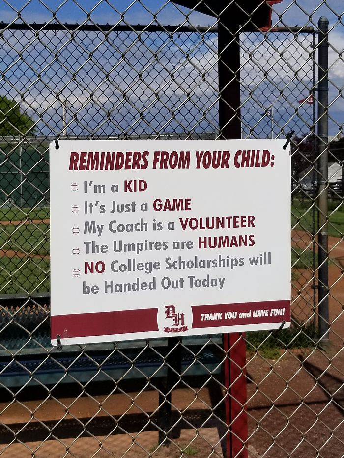 This Is At My Local Park That Has 5 Baseball Fields. The Parents Need To Control Themselves