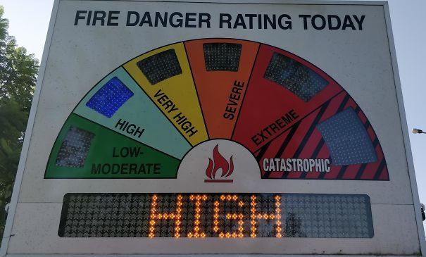 Meanwhile In Australia, High Is The Second Lowest Fire Danger Rating