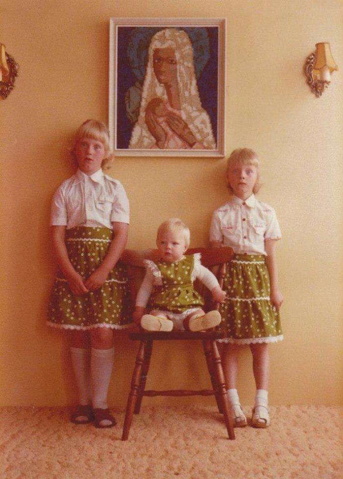 Mi madre y sus hermanas en 1978. Les dijeron que no parpadearan