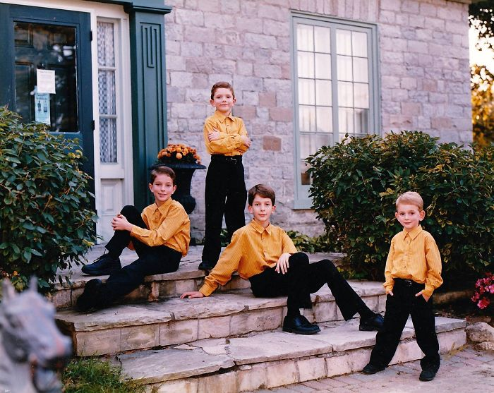 My Mom Thought It's Appropriate To Dress My Brothers And I In Identical Mormon-Boys-Choir Outfits For Our Family Portrait