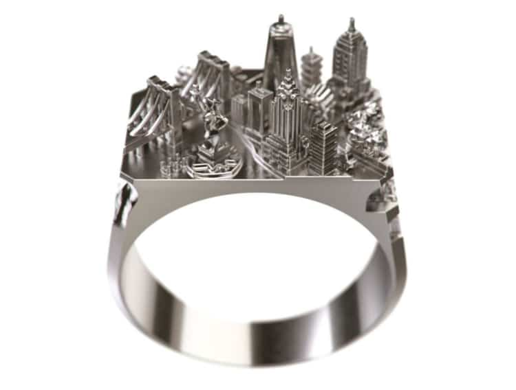 Astoundingly Detailed Architecture Rings Contain Entire City Skylines (Infographic)
