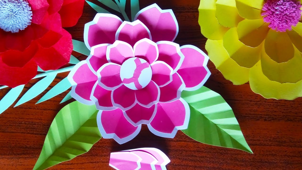 DIY Making Paper Flowers