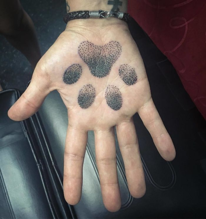 Dot Work Paw Print
