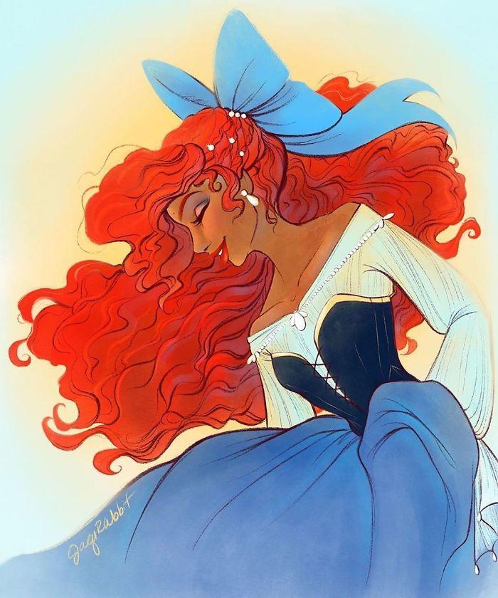 Little Mermaid Fan Art Drawing
