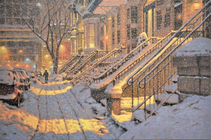 Canadian Artist Creates Beautiful Winter Paintings That Will Make Your Nights Warmer