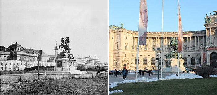 Heldenplatz 1880s vs. 2015