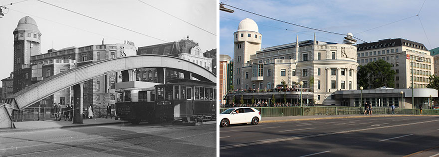 Urania Building 1930 vs. 2019