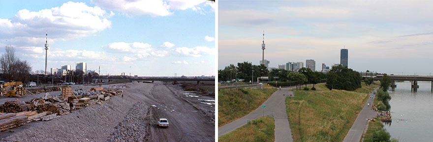 Along The Danube 1980 vs. 2019