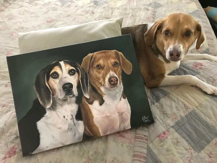 Charlie Brown And His Portrait Of Him And Riley