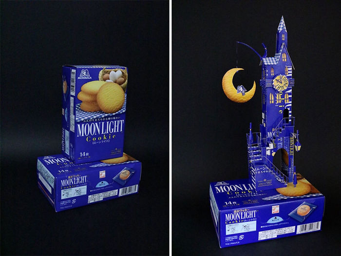 Japanese Artist Makes Incredible Arts With Used Packaging (19 New Pics)