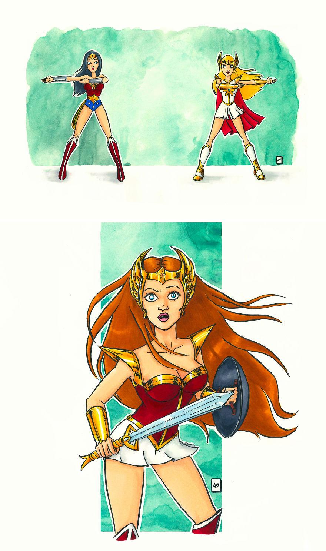 Wonder Woman x She-Ra