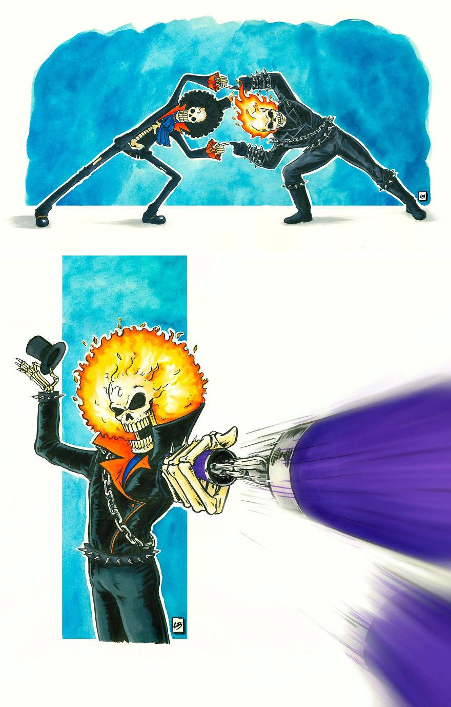 Brook x Ghost Rider