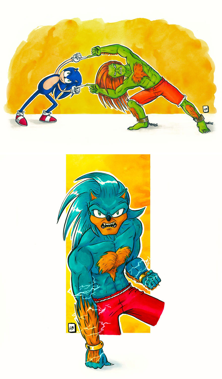 Sonic the Hedgehog x Blanka