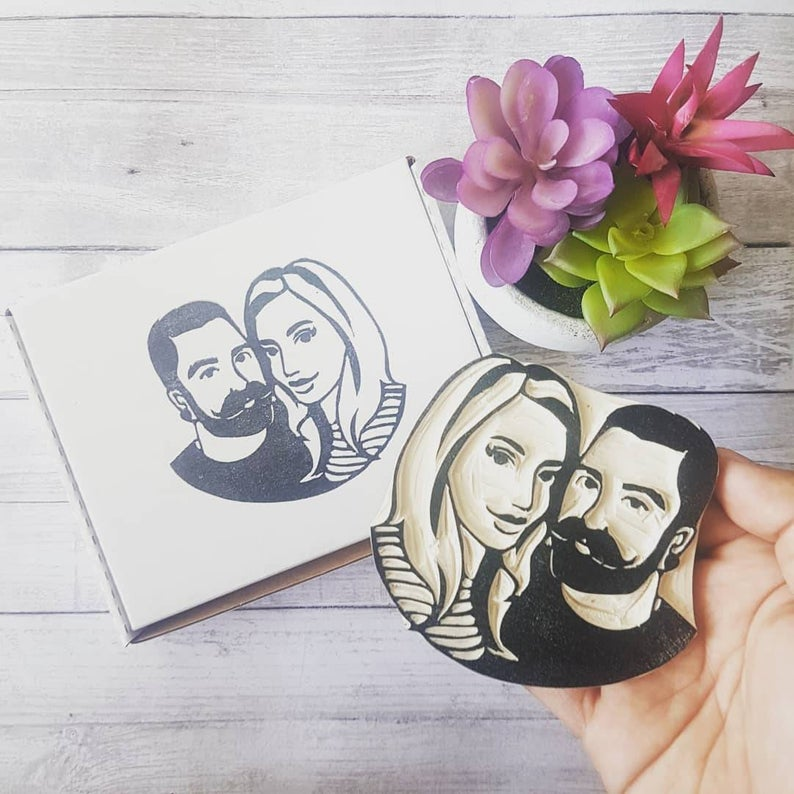 I Hand Carve Rubber Portrait Stamps Of People And Pets