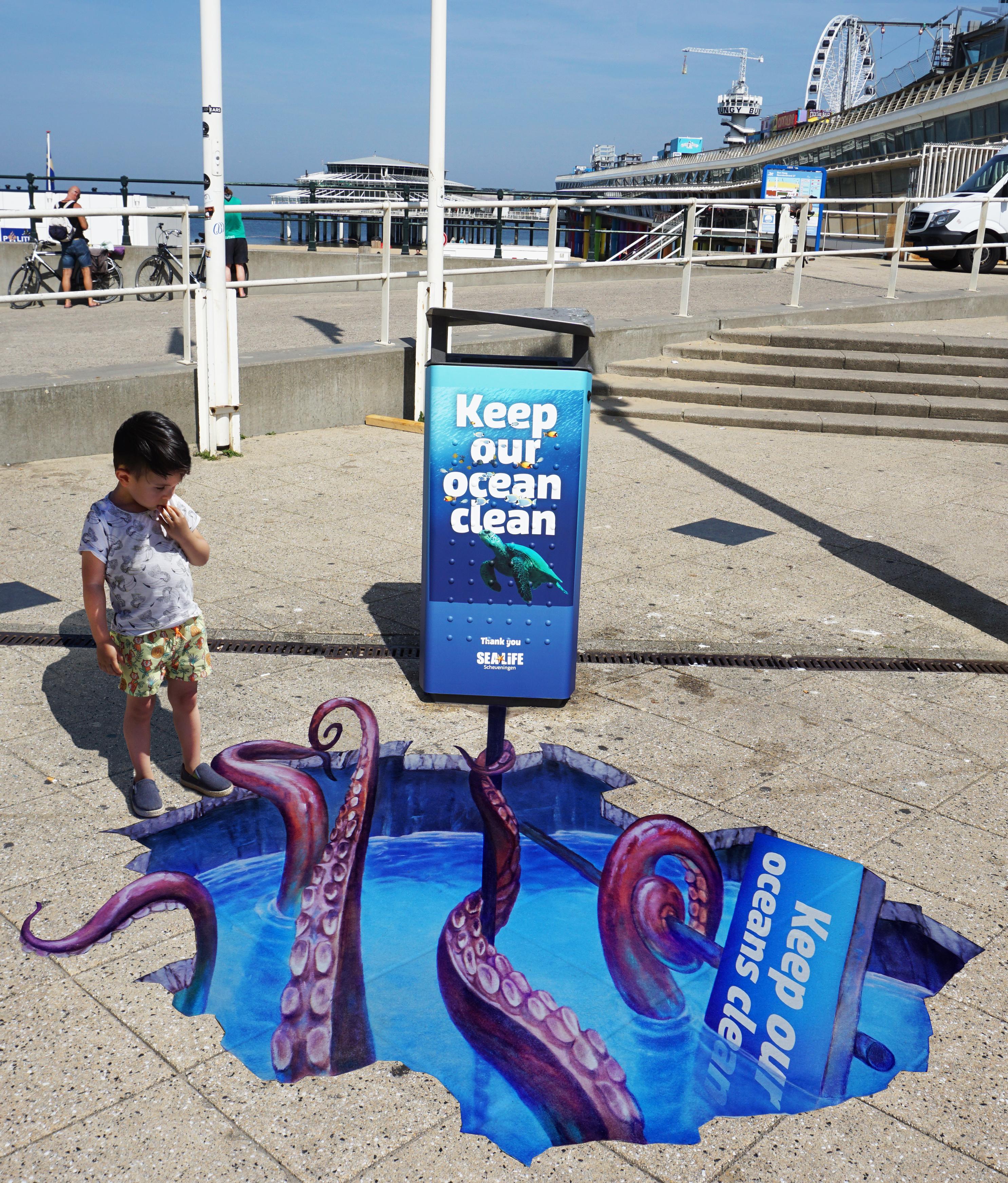 3D Street Art // Keep Our Ocean Clean