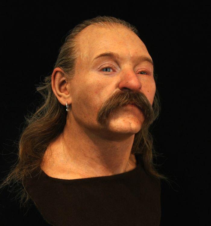 Un hombre que vivió en Gran Bretaña en la era sajona