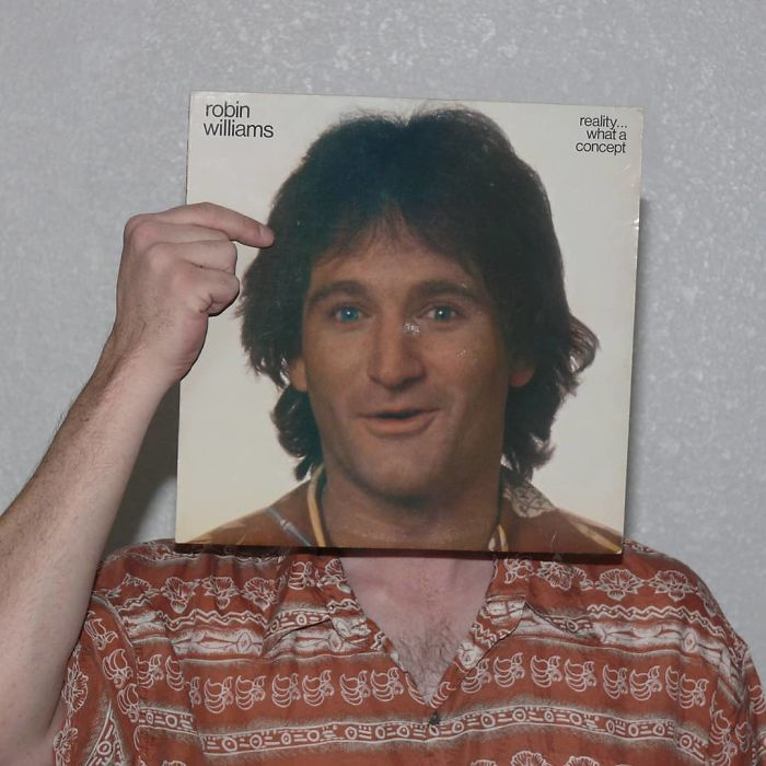 People Are Merging Old Vinyl Covers With Parts Of Their Bodies And The Result Is Amazing