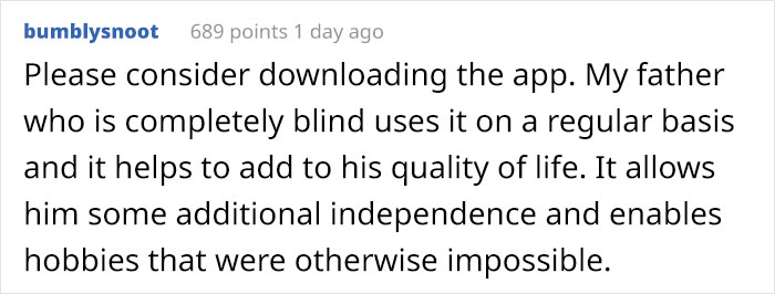 People Share Their Experiences With An App That Allows You To Help A Blind Person By 'Seeing' For Them