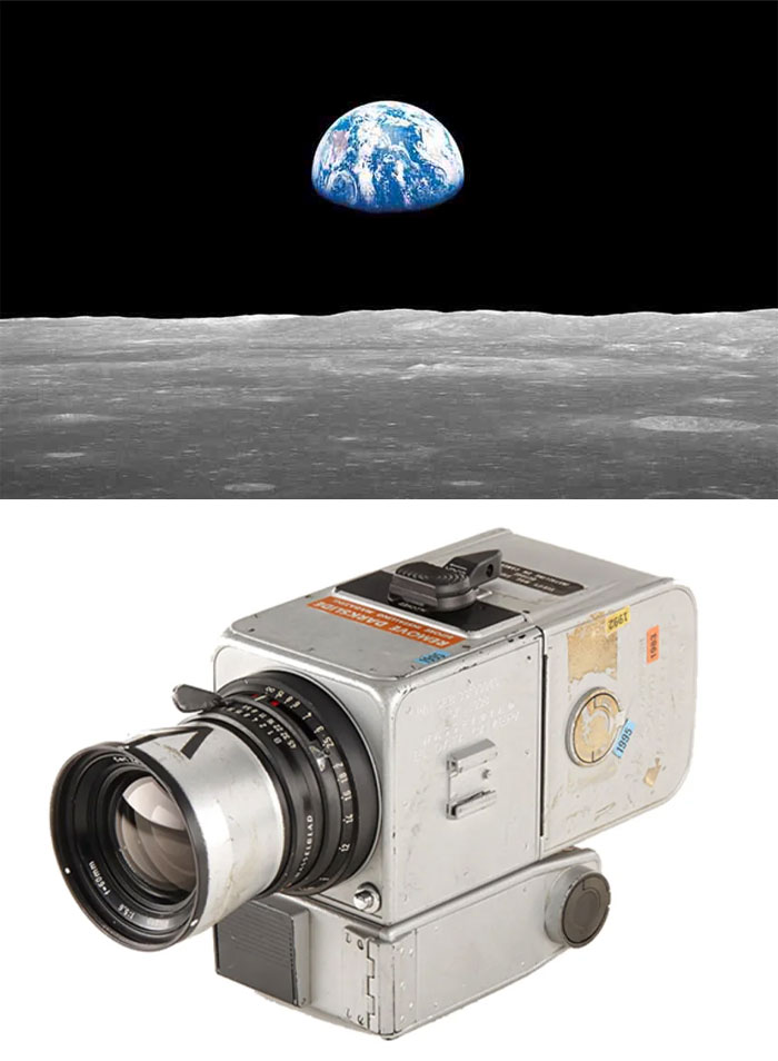 """Earthrise"" By William Anders, 1968 / Modified Hasselblad 500 El"